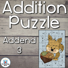 Addition Puzzle for Addend 3 ~Common Core Aligned!