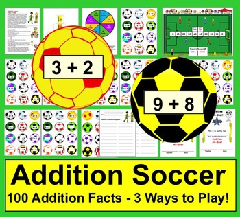 Addition Soccer Math Centers - 3 Ways to Play