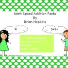 Addition Speed Facts