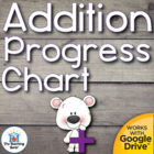 Addition Student Progress Chart and Timed Tests Addends 0-10