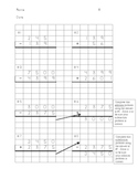Addition & Subtraction Pairs on Graph Paper