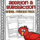 Addition & Subtraction Story Problems {Animal Friends Pack}