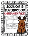 Addition & Subtraction Story Problems {Christmas pack}
