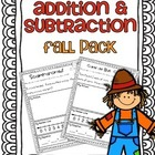 Addition & Subtraction Story Problems {Fall pack}