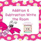 Addition & Subtraction Write the Room packet