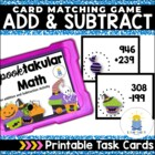 Addition/ Subtraction with Regrouping: Spooktakular Math