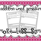 Addition Word Problems {more, less, and the same}