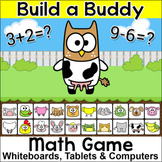 Addition and Subtraction Build a Buddy Game – For Whiteboa