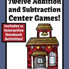 Addition and Subtraction Centers, Printable Seatwork and F