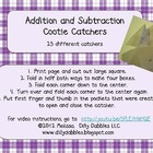 Addition and Subtraction Cootie Catchers