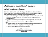 Addition and Subtraction Facts - Fun and Motivating Game f