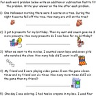 Addition and Subtraction Facts Word Problems