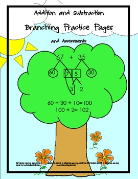 Addition and Subtraction Math Branching Practice Pages