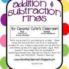 Addition and Subtraction Mystery  Picture Rings {A Fun Mat