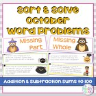 Addition and Subtraction Word Problem Sort: Halloween Sums to 100