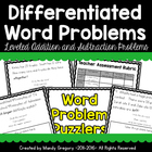 Addition and Subtraction Words Problems- Differentiated