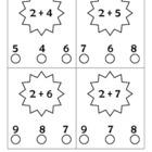 Addition facts to 10 Punch cards