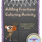Addition of Fractions with Common Denominators Coloring Activity