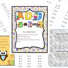 Addition timed tests with completion certificate and punch card