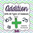 Addition with All Types of Addends {Common Core Aligned}