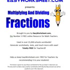 Multiplication of Fractions 6th-7th+ Grade Common Core!