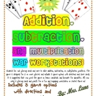 Addition/Subtraction/Multiplication War (Great Center/Work