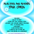 Adjective and Adverb Task Cards