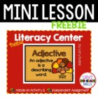 Adjectives Literacy Center - FREEBIE