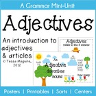 Adjectives Mini-Unit- Posters, Sorts, Games, and Worksheets
