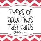 Adjectives Task Cards (grades 3 - 5)