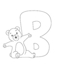 Adorable Characters Alphabet Coloring Pages [paperback]