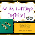 Adorably Math-y Infinite Earrings (shipping included)