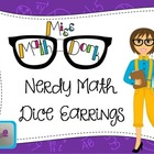 Adorably Math-y Purple Dice Earrings (shipping included)