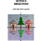 Advanced Coordinate Graph Art for Grades 6-8: Reflections