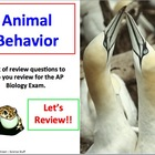 Advanced Placement (AP) Biology Review PPT Animal Behavior