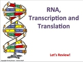 Advanced Placement Biology Review PPT: Transcription and T