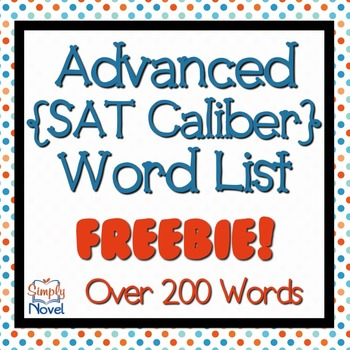 Advanced Word List (SAT-caliber)