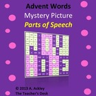Advent Mystery Picture #2 Parts of Speech FREE