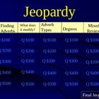 Adverb Review Game - Jeopardy