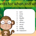 Adverbs for when and where - 10 word packets by SpellingPa
