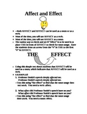 Affect vs. Effect: The Trick!