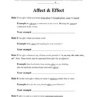 Affect vs. effect activity