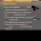Africa PowerPoint - Importance of Niger River
