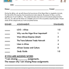 Africa Student Notes Packet - standards based