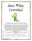After While Crocodile- comparing numbers using symbols