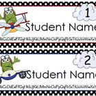 Airplane Editable Name Tags