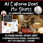 Al Capone Does My Shirts Reading Comprehension Activity Guide