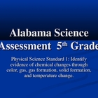 Alabama Science Assessment Grade 5 Standard 1