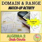 Algebra 2 Domain and Range Match Activity