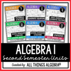 Algebra I {Second Semester} - Notes, Homework, Quizzes, Te